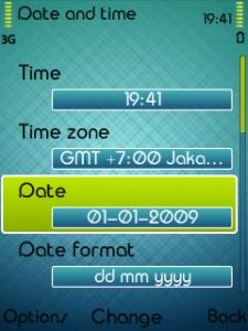 setting tanggal,bulan dan tahun